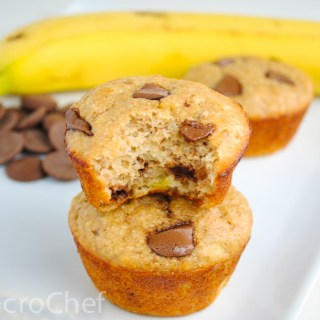 Banana Bread Chocolate Chunk Protein Muffins