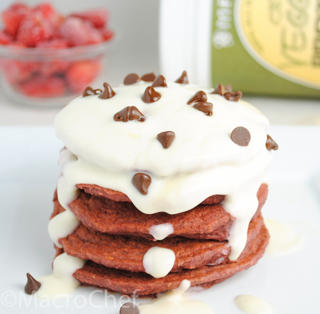 Superfood Red Velvet Protein Pancakes