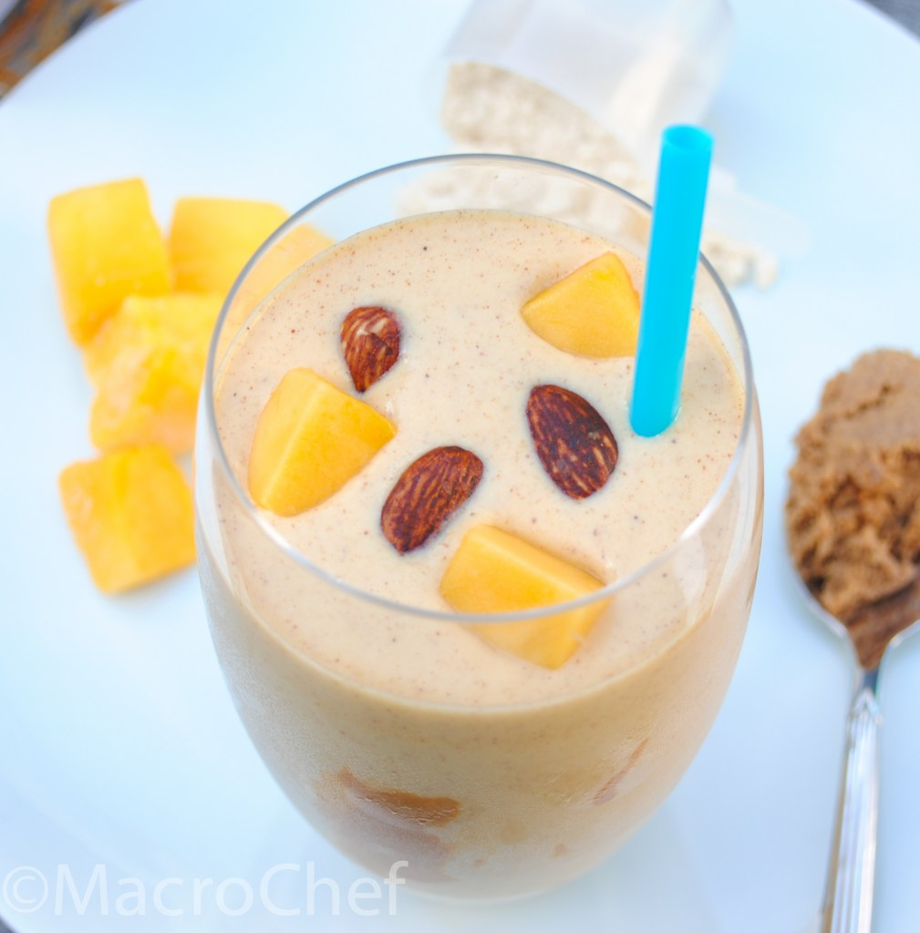 Mango Almond Butter Protein Smoothie