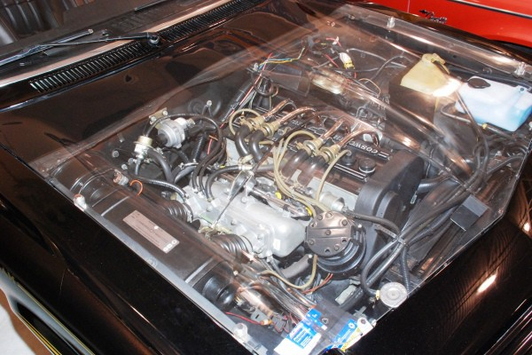 1975 Cosworth Vega clear plastic hood