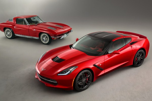 2014 Corvette Stingray with 1963 Stingray
