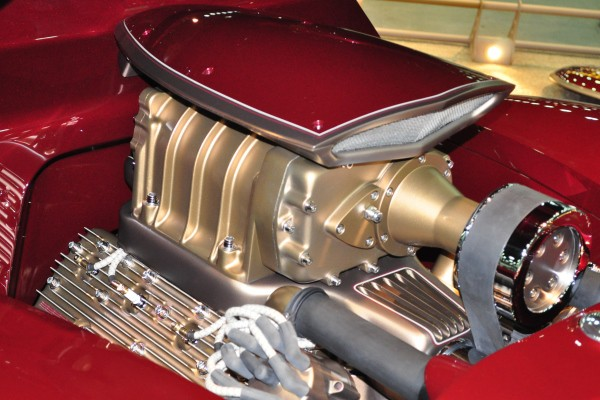 Blown flathead Ford V8 right side