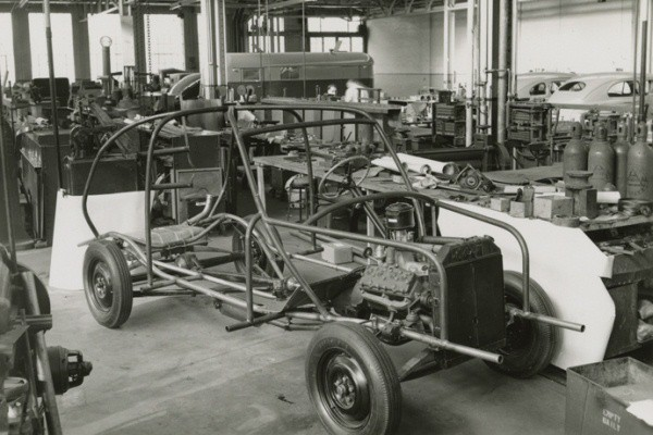 Ford soybean car chassis right front