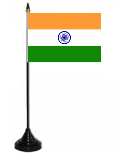 Indian Flag Full Hd Wallpaper India Desk Table Flag With Plastic Stand And Base