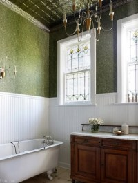 Metal Ceiling Tiles In Bathroom