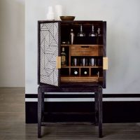 Black and White Inlaid Drinks Cabinet - Mad About The House