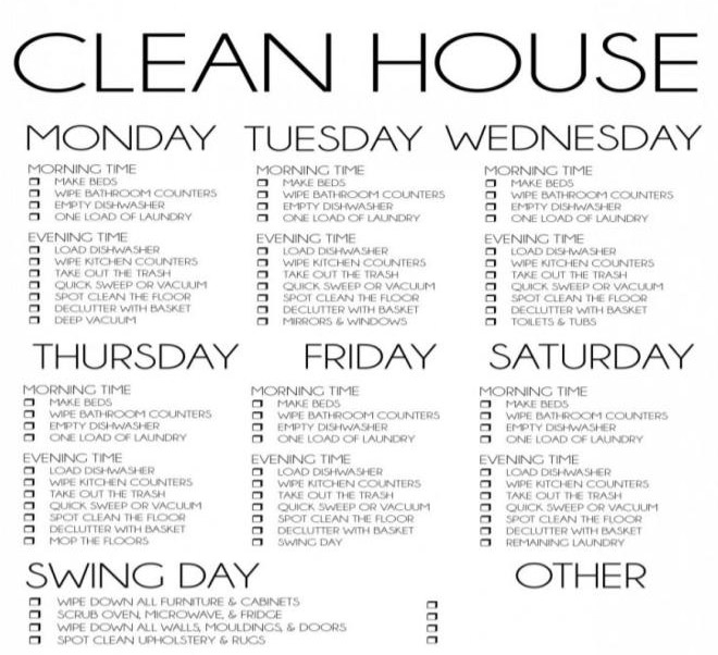 Cleaning Checklist for House and Office Spaces