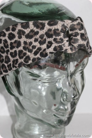 diy headband leopard print finished