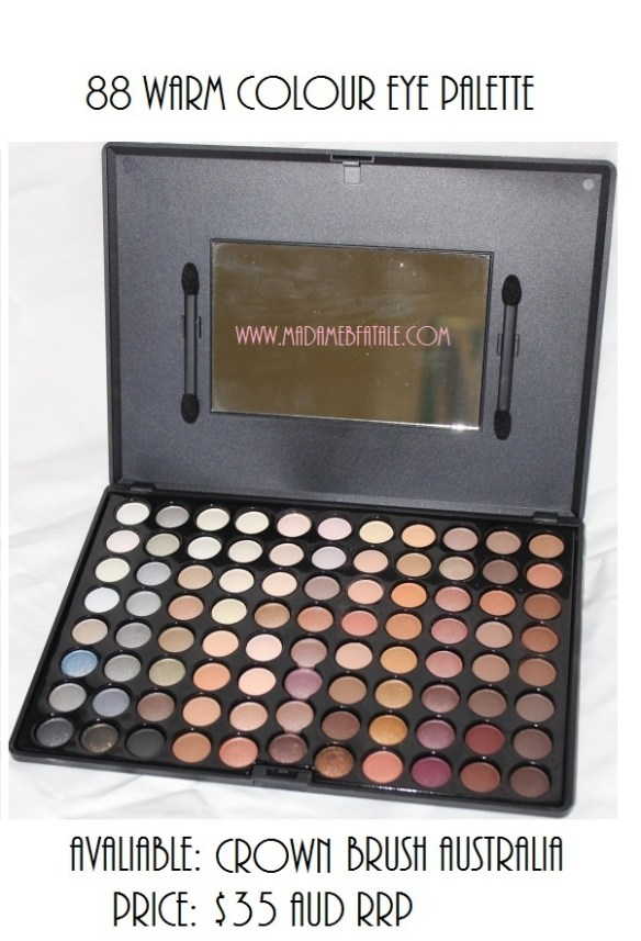 88 Warm Colour Eye Palette