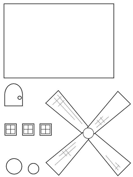 Windmill TP Roll Craft for Holland or Germany study Teaching - line paper
