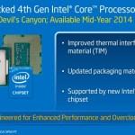 """Intel anuncia renovación de sus CPUs Intel Core de cuarta generación """"Haswell"""""""