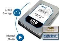 HGST anuncia el primer disco duro de 10 TB con relleno de Helio y grabación SMR