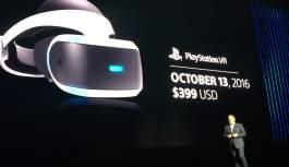 PlayStation VR llegará en octubre con un precio base de $ 399 dólares