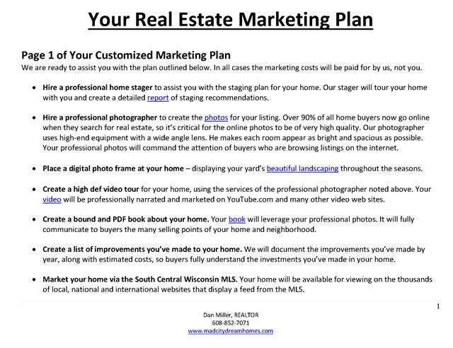 marketing plan real estate pdf - Ozilalmanoof