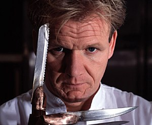...Though I suspect celebrity chef Gordon Ramsay would throw the whole plate out, followed by a lot of bleeping.