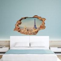 Wall decal 3D effect Paris cheap - Stickers 3D discount ...