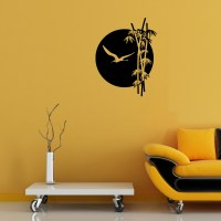 Wall decal Sunset and bamboo cheap - Stickers Nature ...