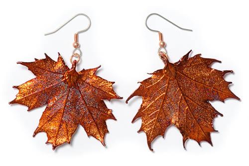 Sugar Maple Lace Leaf Earrings