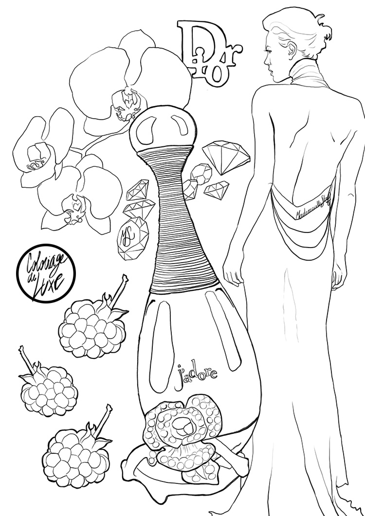 Coloriage : J'adore Dior I Mademoiselle Stef I Blog Beauté