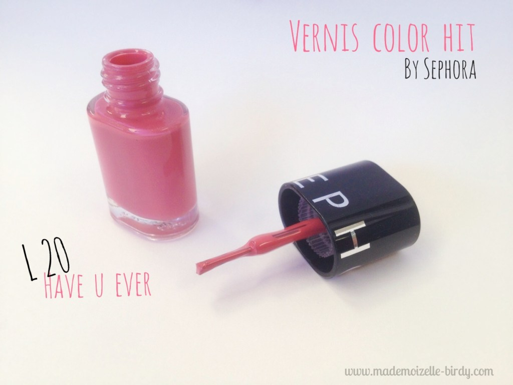 Vernis color hit sephora couleur have u ever by sephora