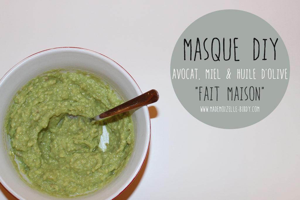 masque fait maison hydratant avocat miel et huile d 39 olive. Black Bedroom Furniture Sets. Home Design Ideas
