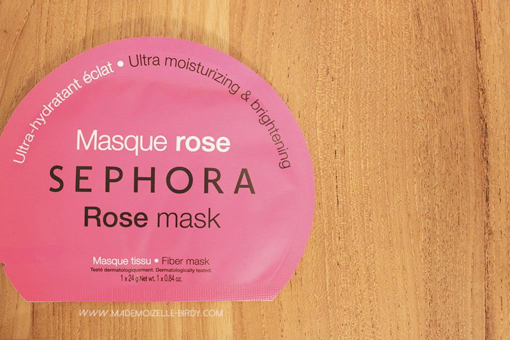 Masque de tissu sephora à la rose