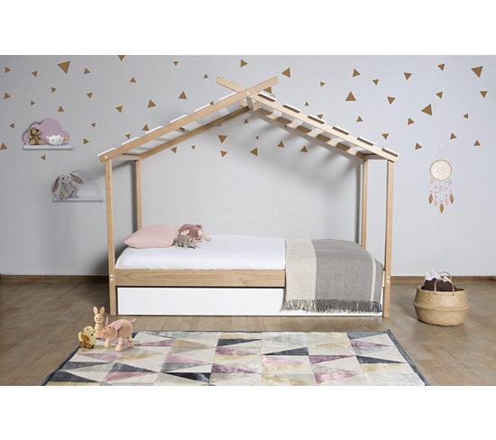 chambre enfant futur nid douillet de charlie avec lit cabane. Black Bedroom Furniture Sets. Home Design Ideas