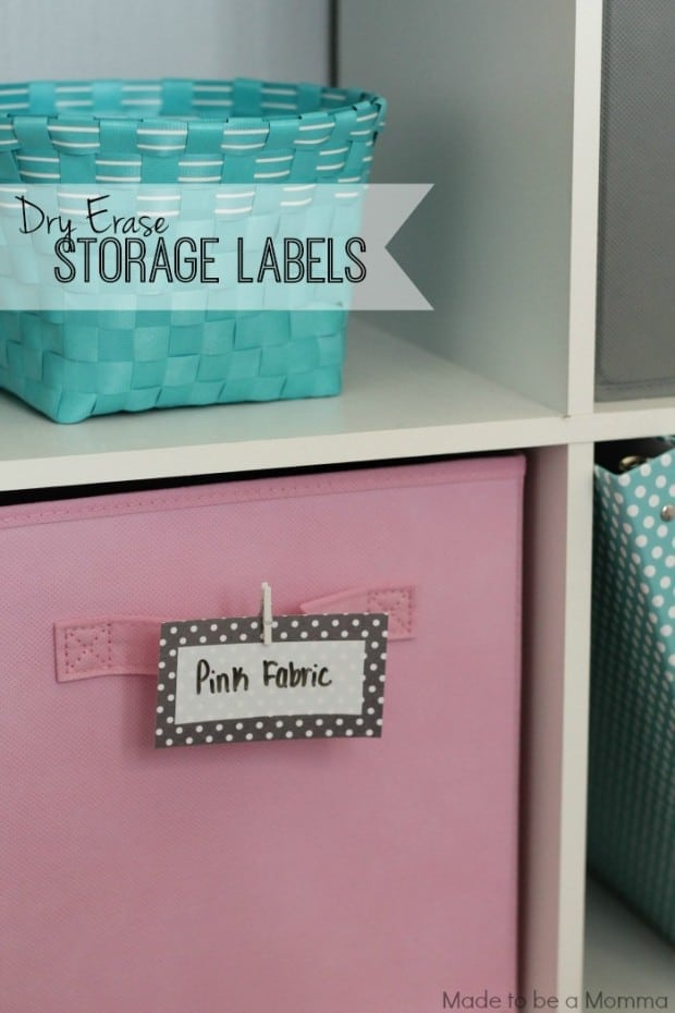Diy Erase Storage Labels