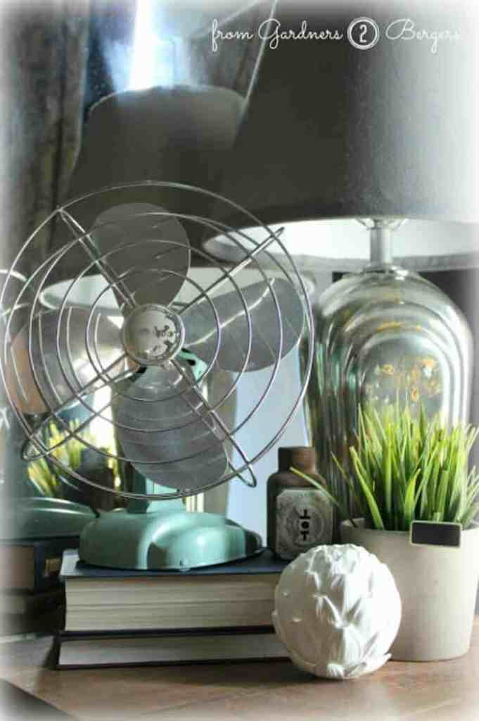 How to Paint a Vintage Fan