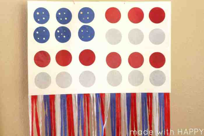 How to make an American Flag Punch Pinata | Great kids party activities and games | Red, white and blue party games | www.madewithHAPPY.com