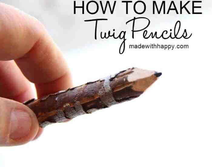 How to Make Twig Pencils