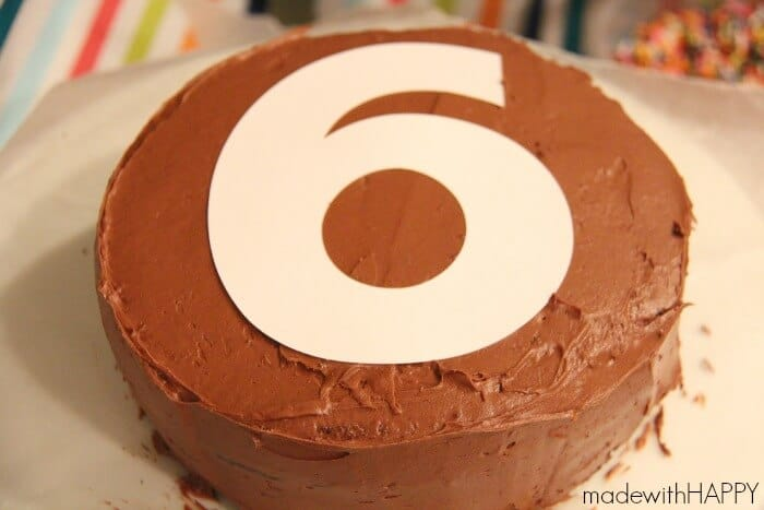 how to make a number six cake