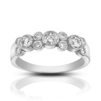 1.00 ct Ladies Round Cut Diamond Wedding Band Ring In ...