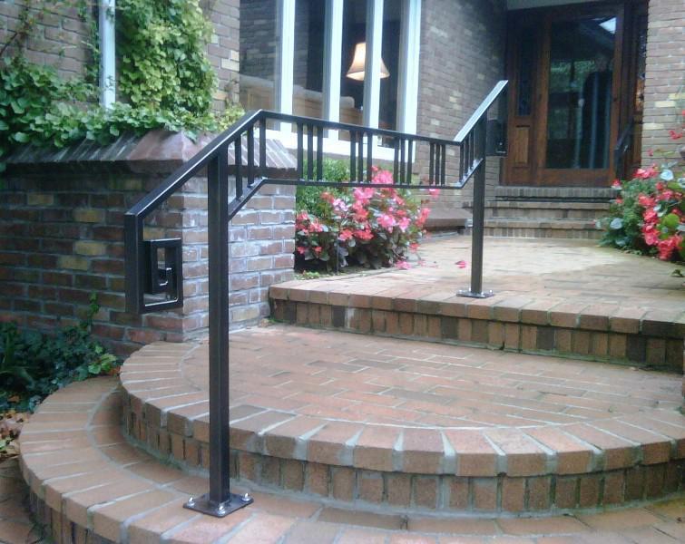 Exterior Stair Railings Angle Madison Art Center Design