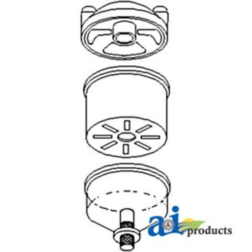 perkins fuel filter bowl