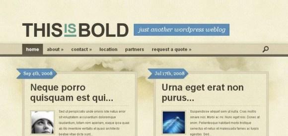Bold WordPress Theme