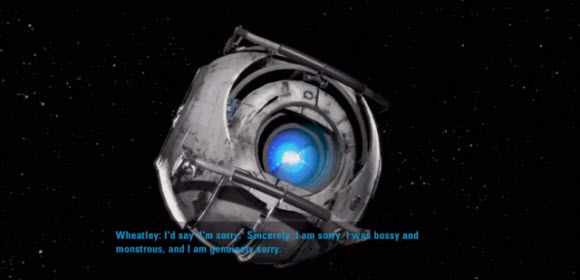 Portal 2 Credits Song 'Want You Gone' and Ending Cinematic