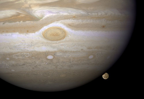 Jupiter's Largest Moon Going to the Dark Side