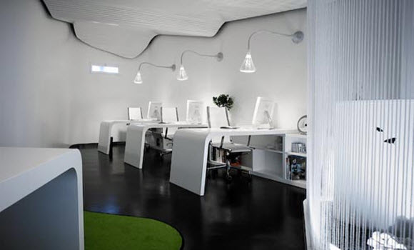 futuristic office