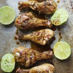 Drumsticks with Sriracha Honey Lime Sauce