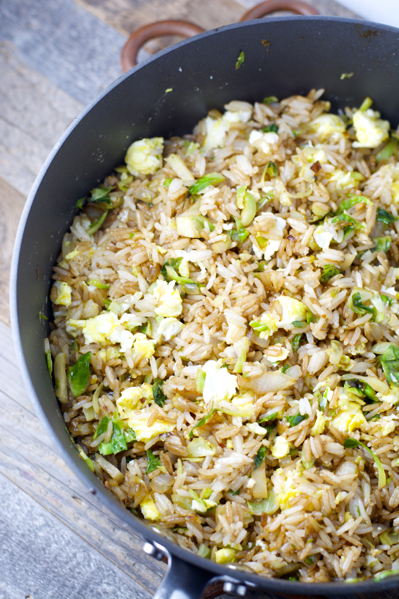 Crispy Brussels Sprout Fried Rice Maebells