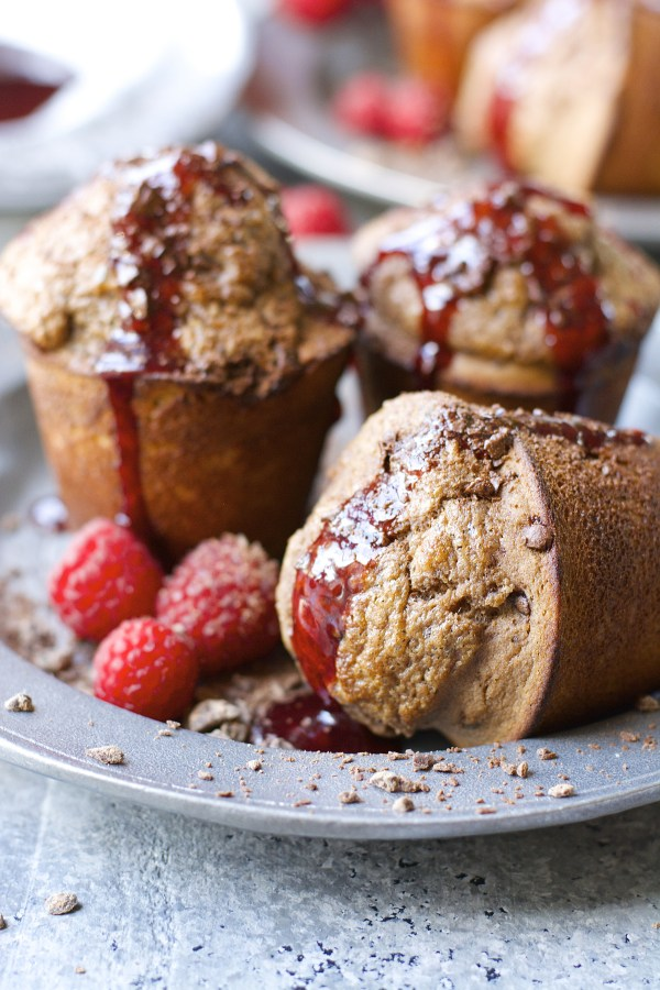 Dark Chocolate Popovers with Raspberry Syrup! Totally gluten free and ...