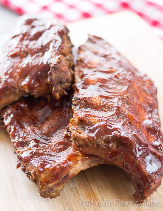 Slow Cooker Chipotle BBQ Ribs from Mariah's Pleasing Plates