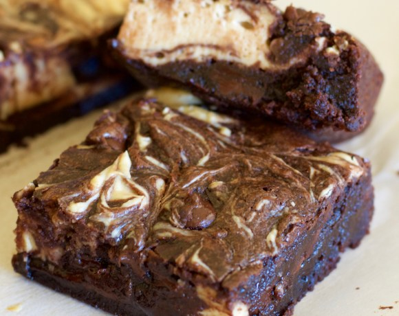 Double Chocolate Peanut Butter Cheesecake Brownies