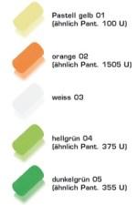 Colores de goma 1