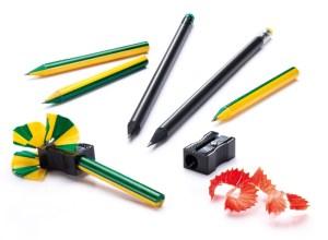 Confección de dos colores de madera en los lápices de golf
