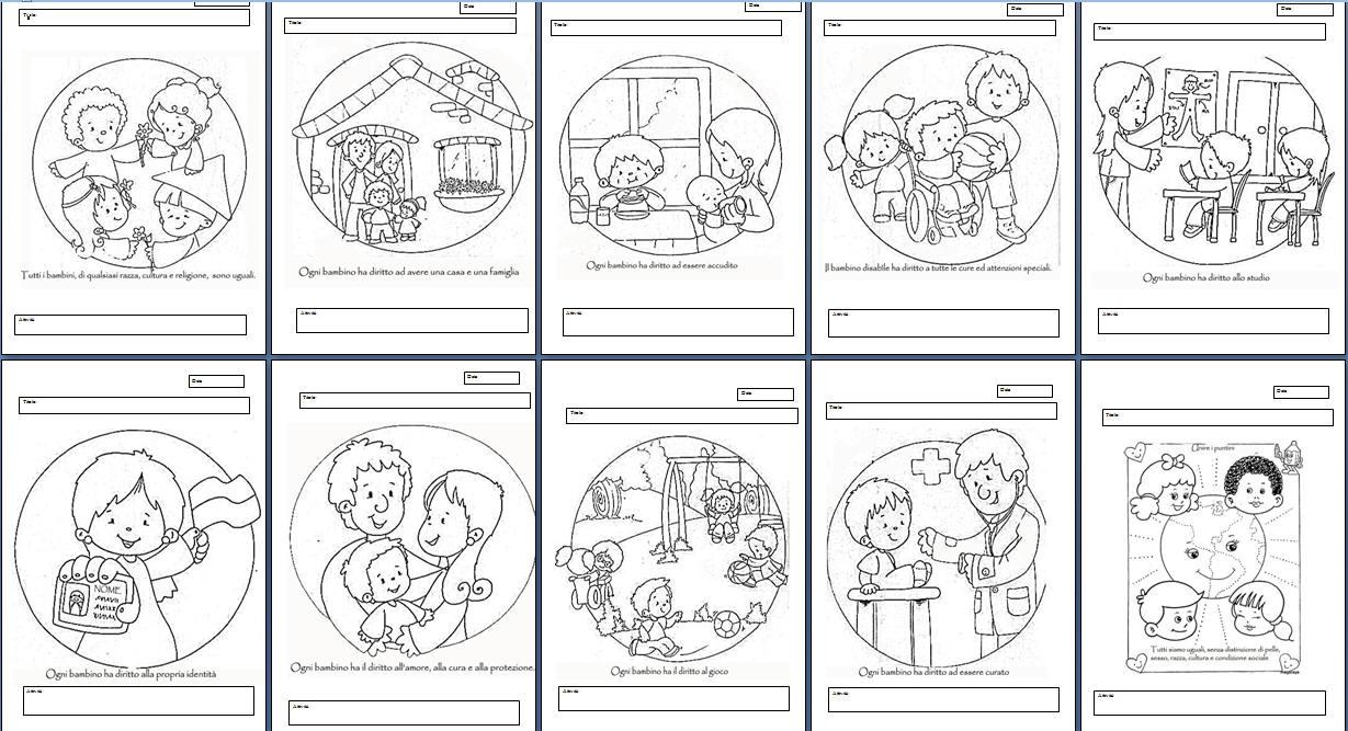 Immagini diritti dei bambini da colorare mb39 for Maestra gemma diritti dei bambini