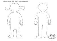 Sagoma Umana Da Colorare Sagome Di Bambini Da Colorare E Ritagliare