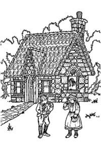 Lusso Disegni Da Colorare Hansel E Gretel Layout