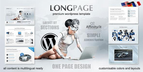 Themeforest Longpage Product and Service Presentation Theme
